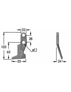 Premilama laterale